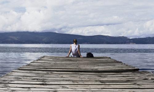 girl on dock